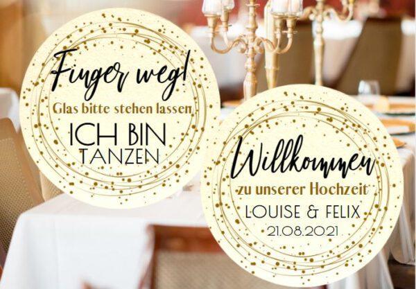 www.mylouise-hochzeitsshop.de Bierdeckel Ich bin Tanzen Bierdeckel Hochzeit