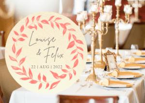 MyLouise Hochzeitsshop Personalisierte Bierdeckel zur Hochzeit