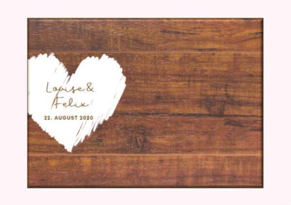 MyLouise Hochzeitsshop Personalisiertes Gästebuch Leinwand zur Hochzeit