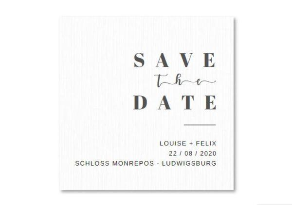 MyLouise Hochzeitsshop Personalisierte Save the Date Karten zur Hochzeit