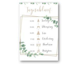 MyLouise Hochzeitsshop Personalisierter Tagesablauf Timeline zur Hochzeit
