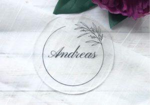 MyLouise Hochzeitsshop Platzkarten Tischkarten aus Acryl zur Hochzeit