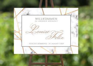 www.mylouise-hochzeitsshop.de Willkommensschild zur Hochzeit
