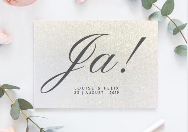 MyLouise Hochzeitsshop Personalisierte Save the Date Postkarten zur Hochzeit