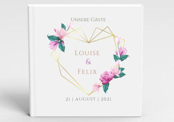 MyLouise Hochzeitsshop Personalisiertes Gästebuch zur Hochzeit