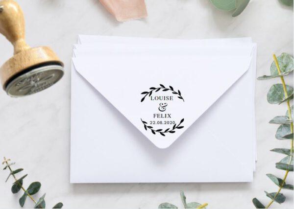 www.mylouise-hochzeitsshop.de Personalisierter Hochzeitsstempel Stempel zur Hochzeit