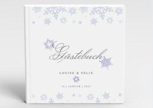 www.mylouise-hochzeitsshop.de Gästebuch Hochzeit Gästebuch Winter