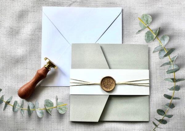 www.mylouise-hochzeitsshop.de Pocketfold Einladung Hochzeit Pocketfold quadratisch