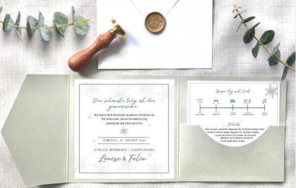 www.mylouise-hochzeitsshop.de POcktfold Einladung Pocketfold Hochzeit