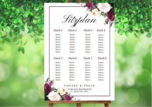 www.mylouise-hochzeitsshop.de Sitzplan zur Hochzeit Sitzordnung