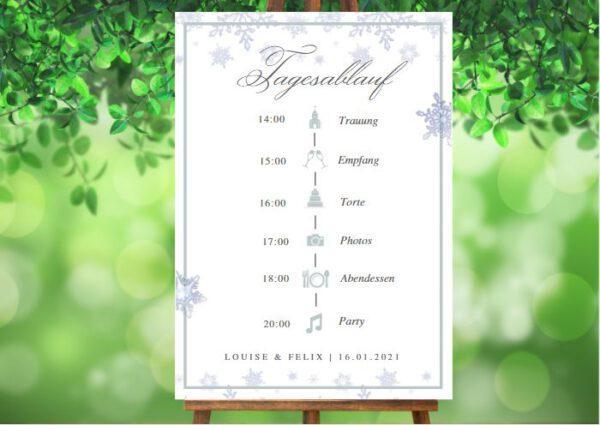 www.mylouise-hochzeitsshop.de Tagesablauf zur Winterhochzeit Timeline