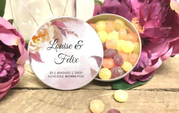 MyLouise Hochzeitsshop Personalisierte Gastgeschenke Bonbondosen zur Hochzeit