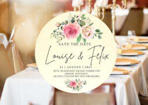 www.mylouise-hochzeitsshop.de Save the Date Bierdeckel Hochzeit Bierdeckel Save the Date Karte