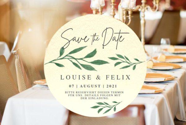 www.mylouise-hochzeitsshop.de Save the Date Bierdeckel Hochzeit Bierdeckel Save the Date Karte