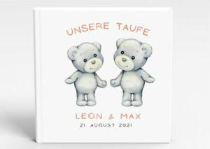 www.mylouise-hochzeitsshop.de Taufbuch Gästebuch Taufe personalisiert