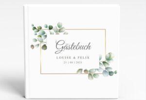 www.mylouise-hochzeitsshop.de Gästebuch Greenery Gästebuch Hochzeit Eukalyptus