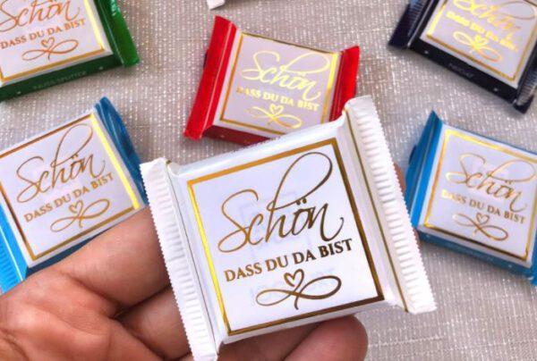 www.mylouise-hochzeitsshop.de Gastgeschenk Schokolade Hochzeit